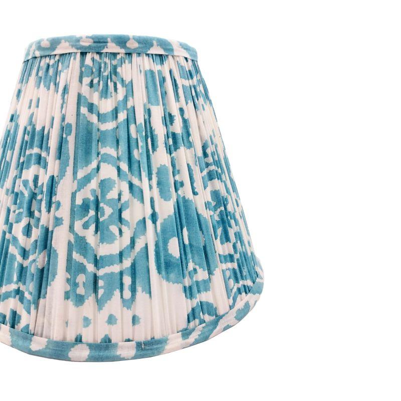 Basa Ikat Block Printed Cotton Lampshade 25cm image