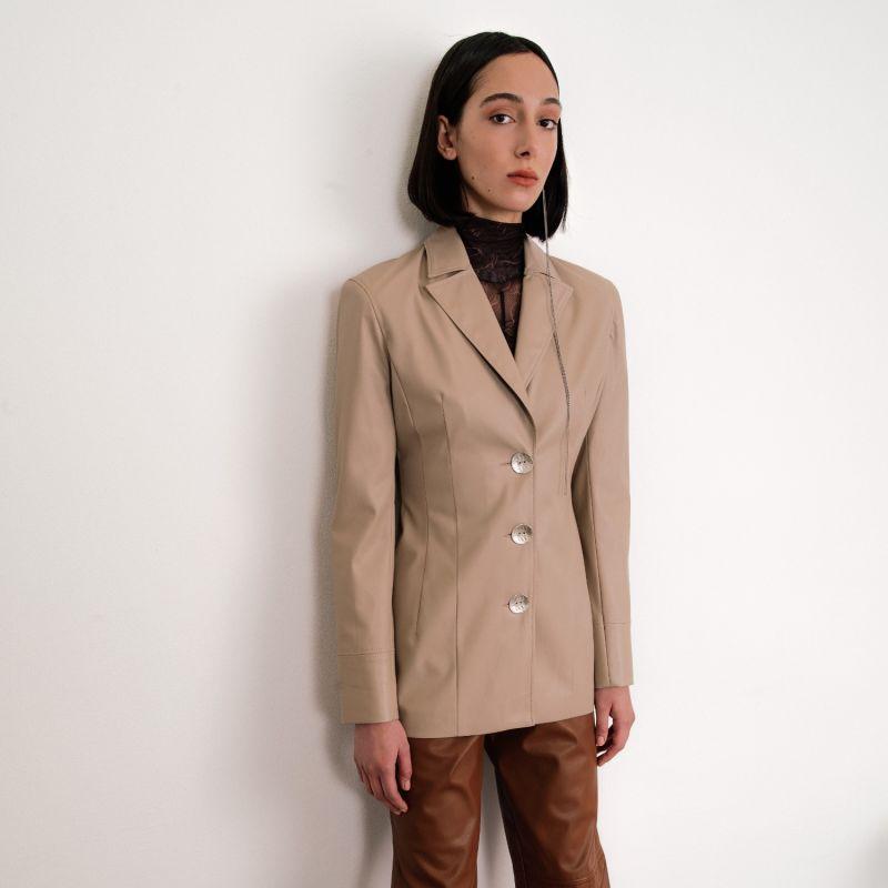 Kat Faux Leather Blazer image