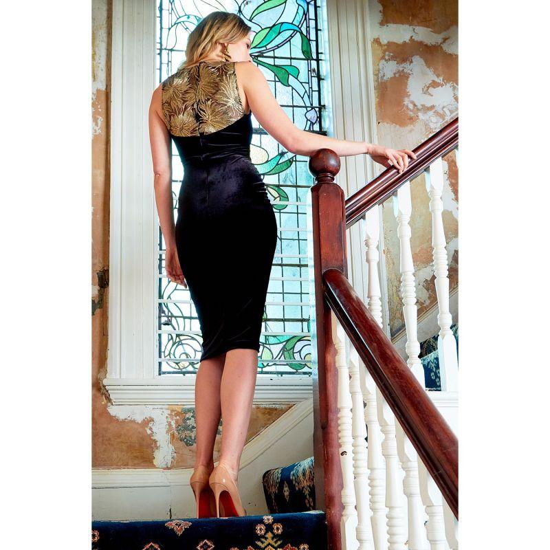Dawn Lace & Velvet Sweetheart Neckline Midi Dress image