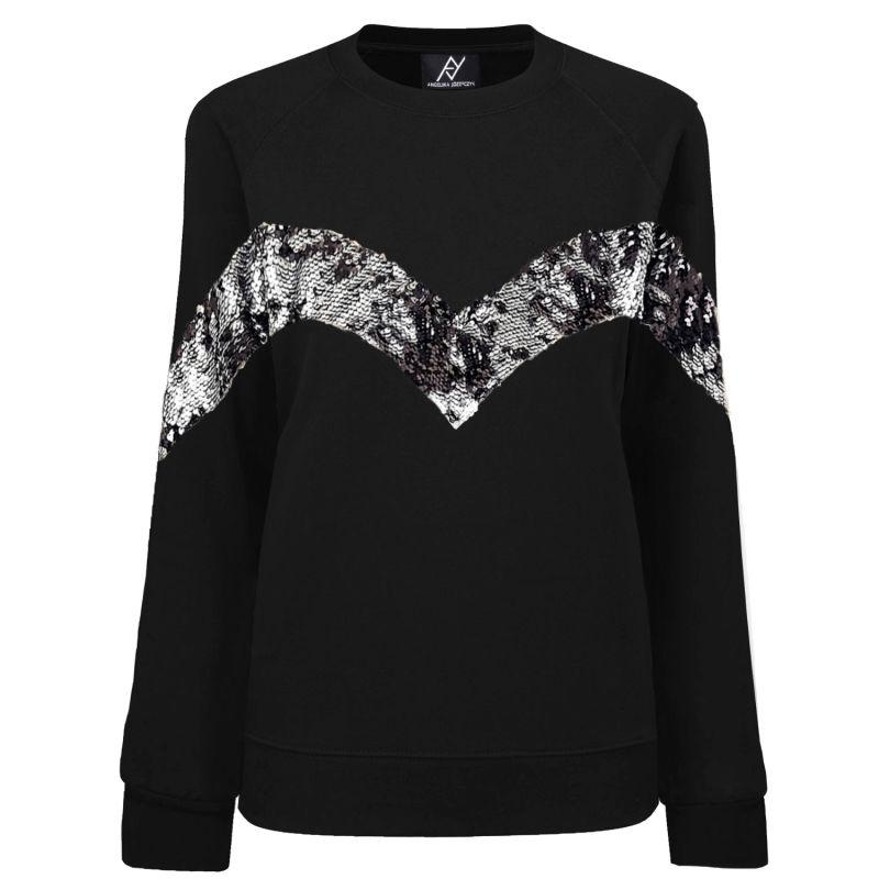 Elegant Black Jumper With Silver Sequins image