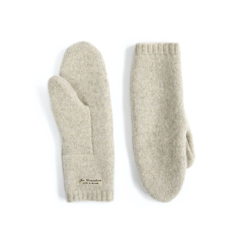 Putty Lambswool Mittens image