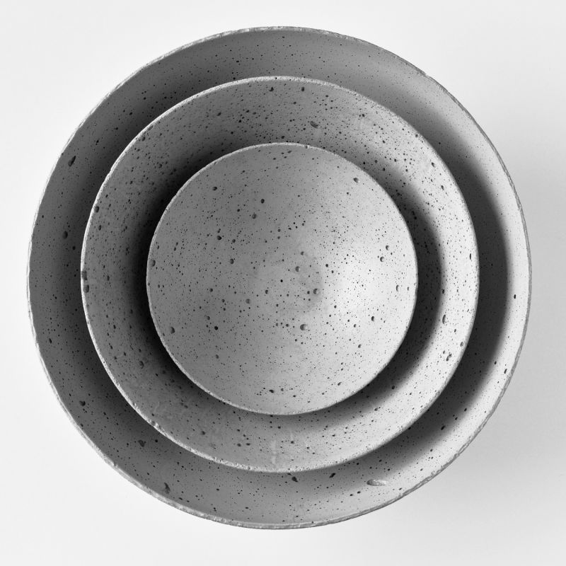 Concrete Bowls Set Grey image