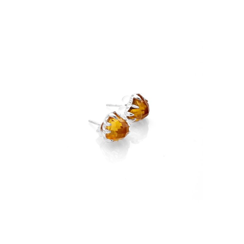 Love Claw Earrings Yellow Citrine image