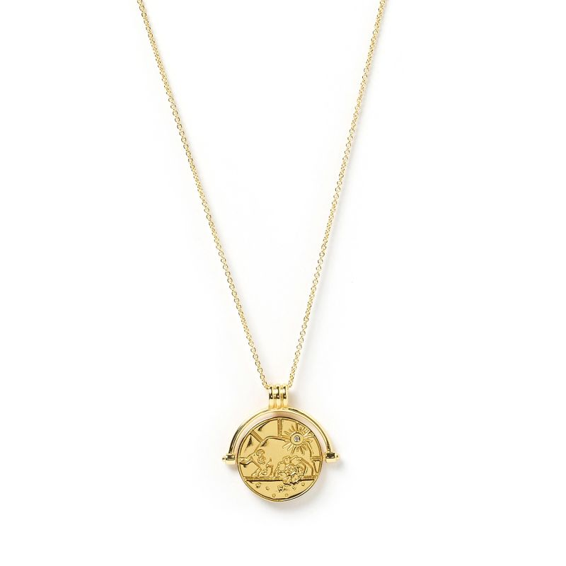 Taurus Zodiac Gold Spinner Necklace image