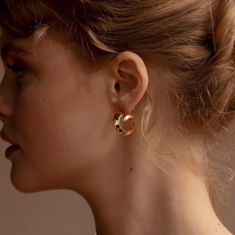 MILA Gold Plated Earrings image