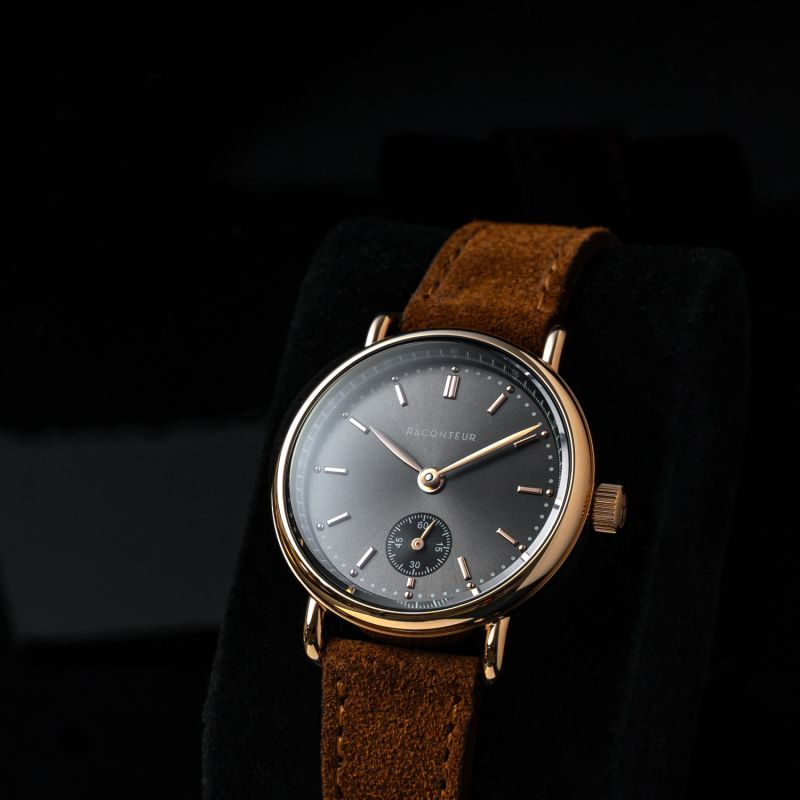Earhart Rose Gold Grey - Bordeaux Leather image