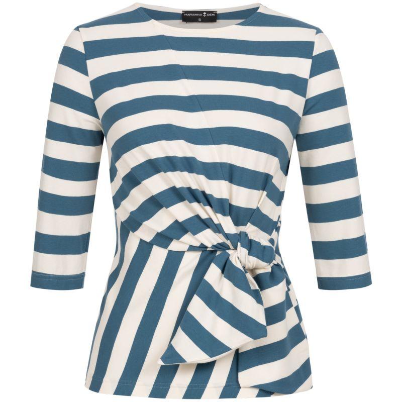 Luna Wrap Top Blue Striped image