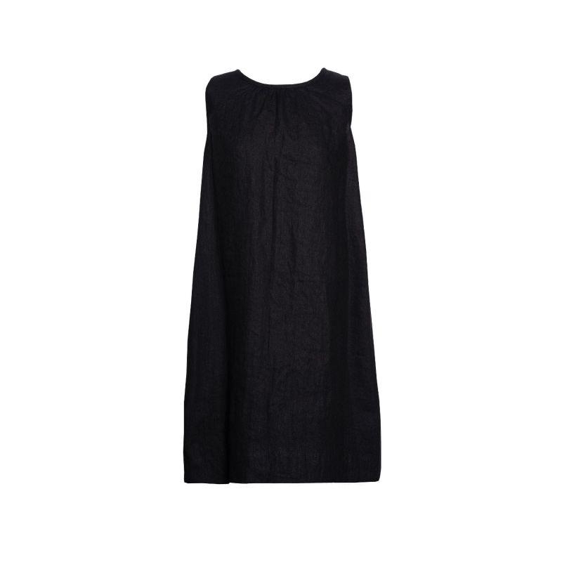 Soft Linen Dress For Hugs - Black image