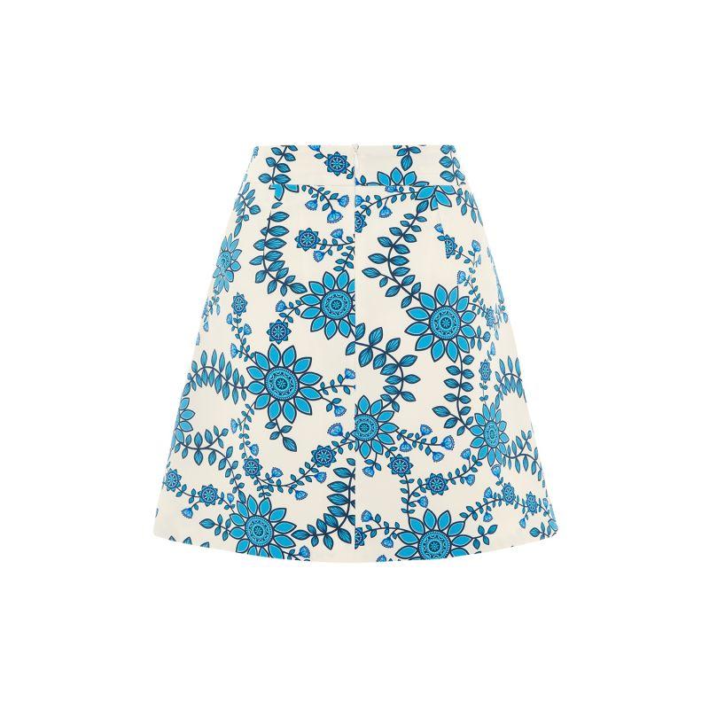 Mini A Skirt - Rose Busk Ivory & Blue image
