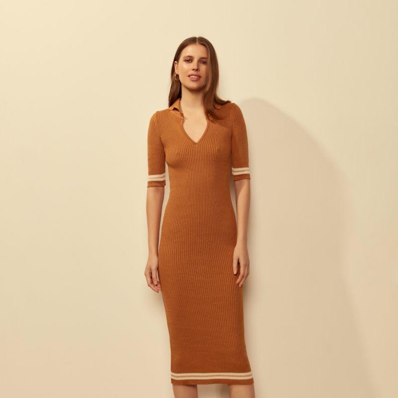 Polo Dress Brown image