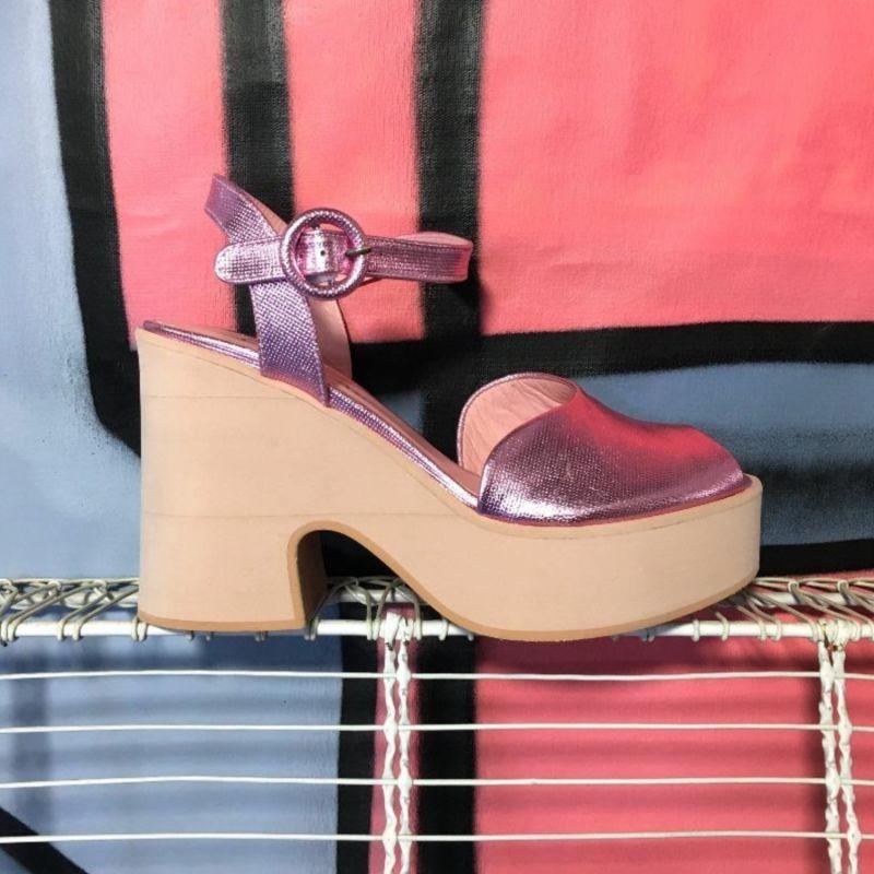 Dianaross Metallic Pink Wedges image