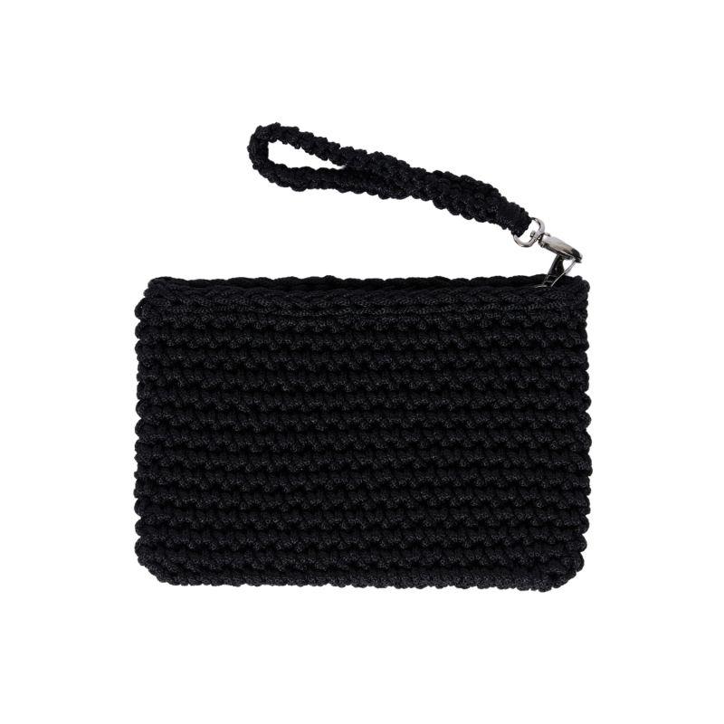Crete Handmade Crochet Clutch in Black image