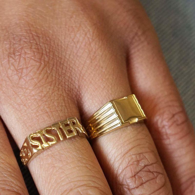 Pawnshop Signature Square Signet Ring image