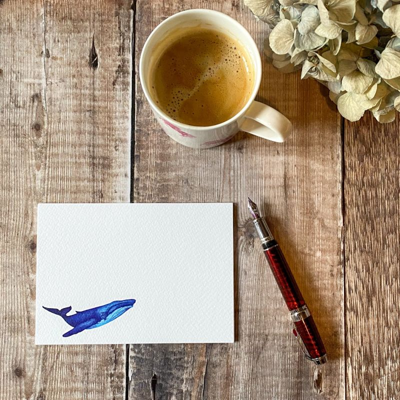 Whale Notecards: Pack Of 10 image
