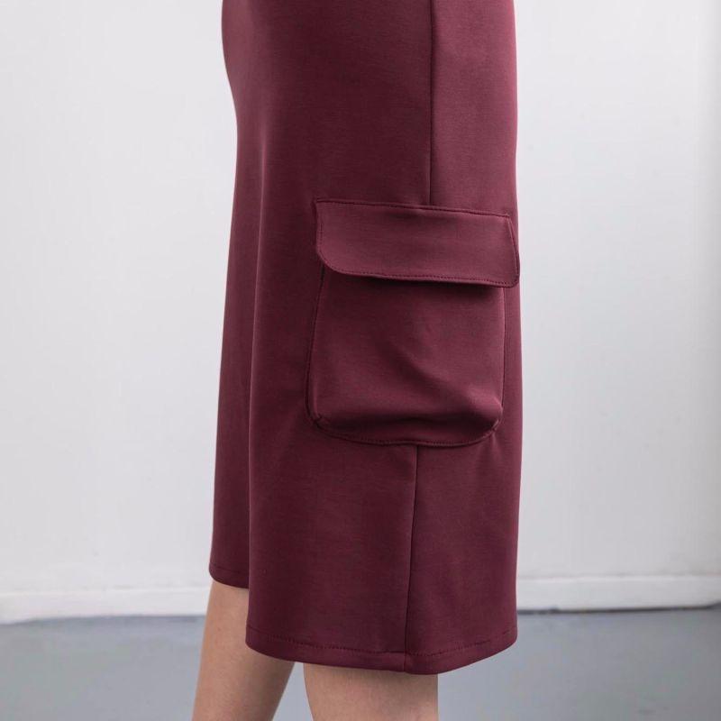 Maroon High Waisted Lounge Skirt image