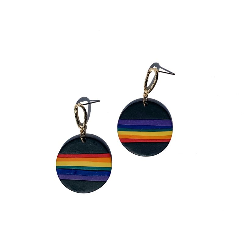 Rainbow Prism Dangle In Midnight image