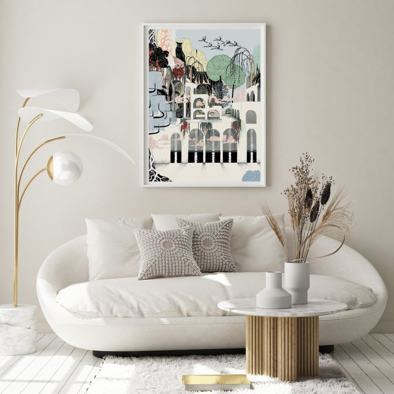 Where The Cats Dream - Signed Art Print A2 image
