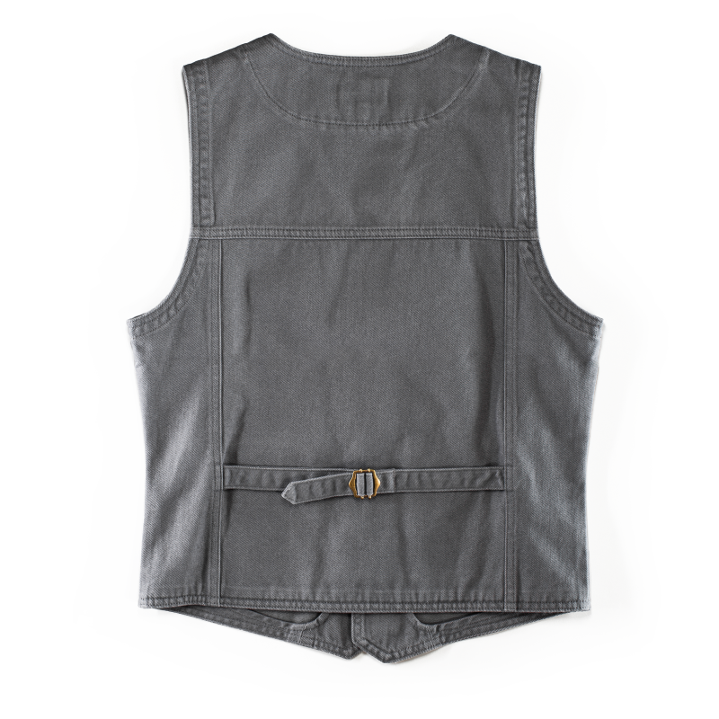 &Sons Grey Lincoln Waistcoat Vest image