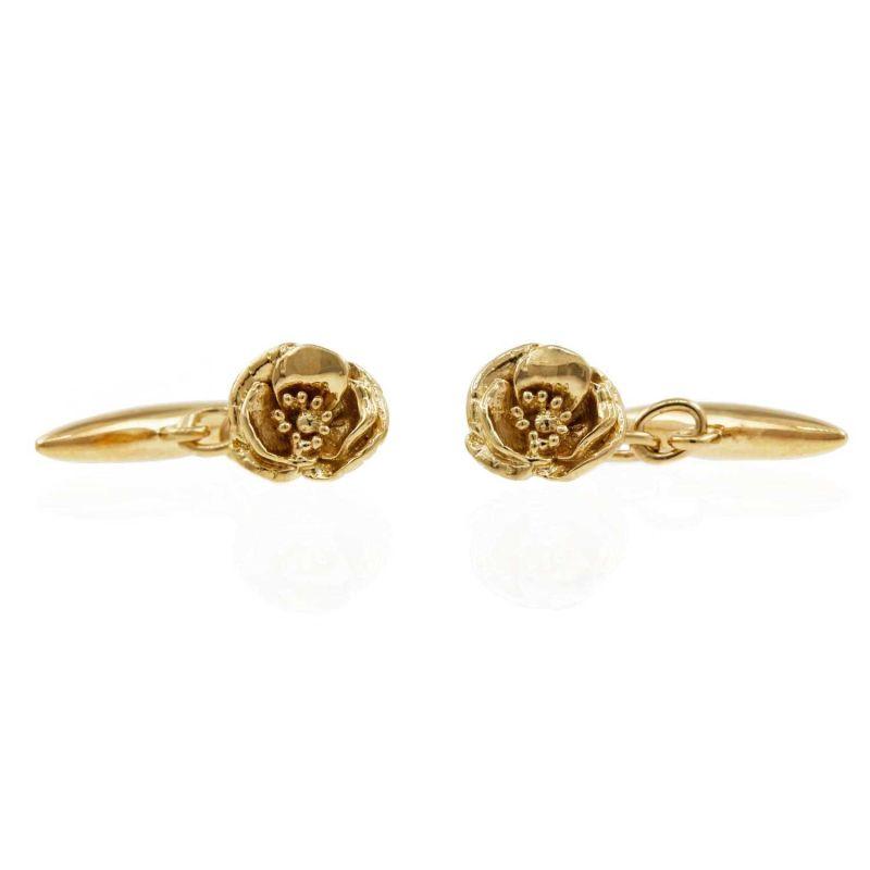 Poppy Cufflinks - Gold image