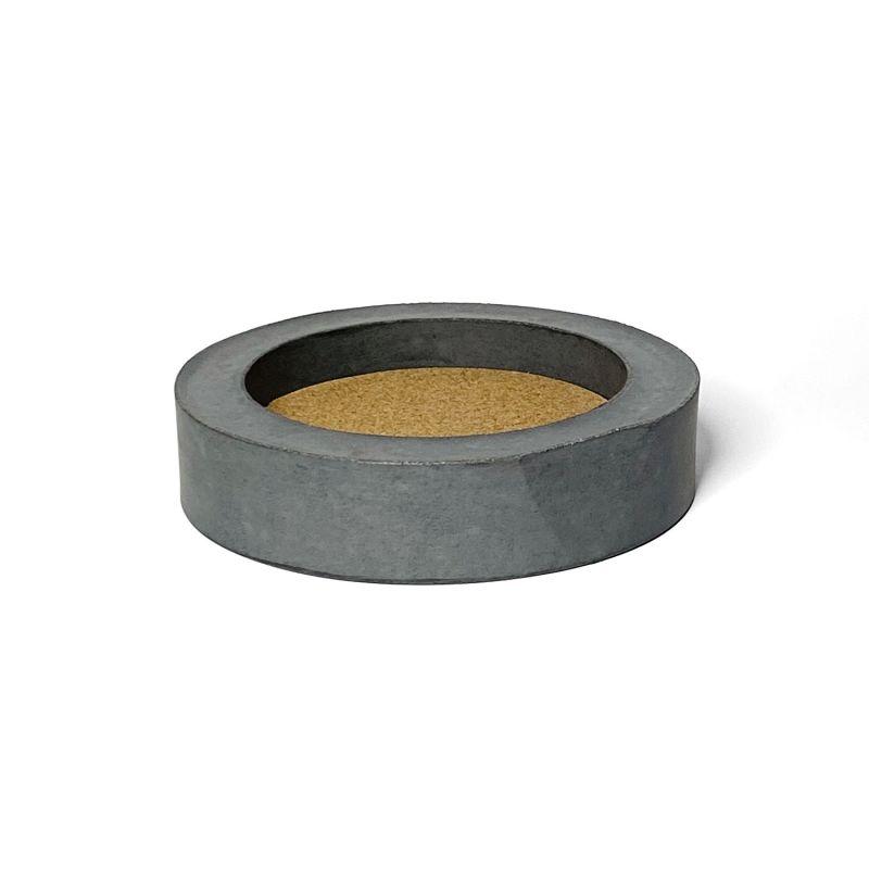 Grey Concrete Table Mirror image