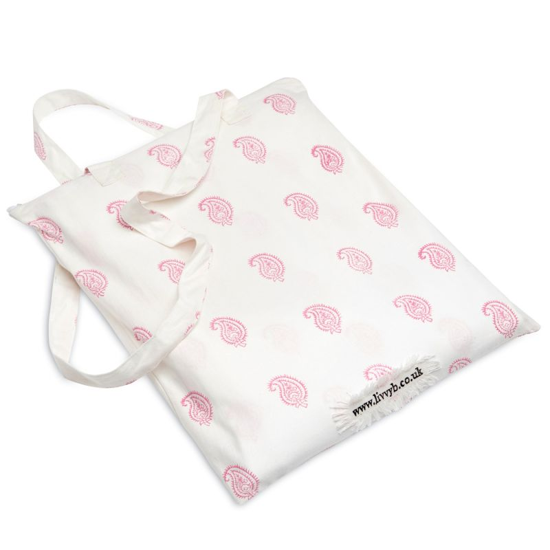Vintage Pink Paisley Bedding Set Double image