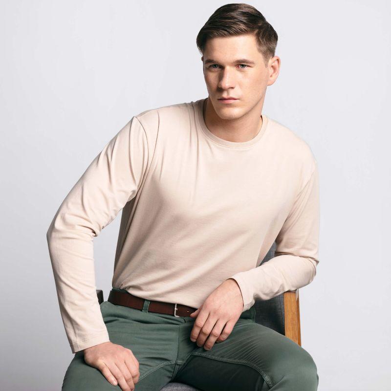 Men's Long Sleeve Tee Beige image
