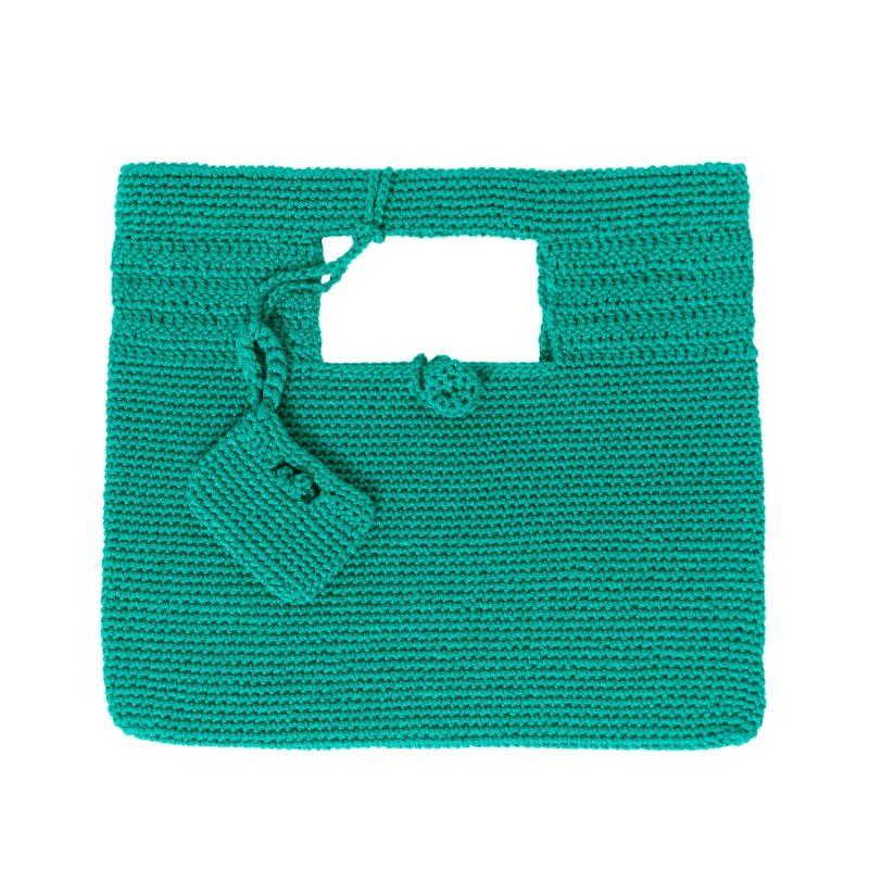 Santorini Crochet Bag in Green image