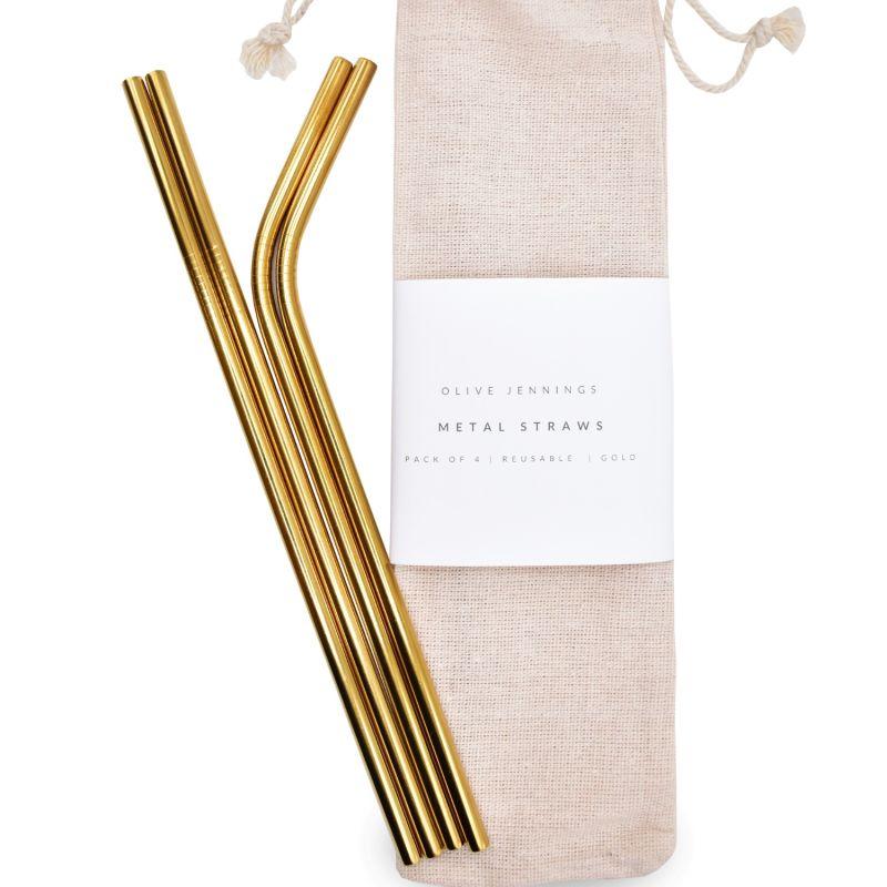 Gold Metal Straws image