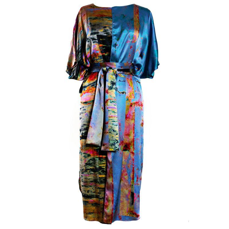 Faultline Silk Wrap Kaftan image