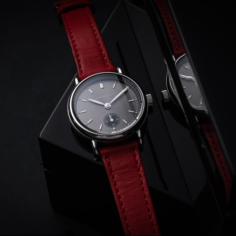 Earhart Silver Grey - Bordeaux Leather image