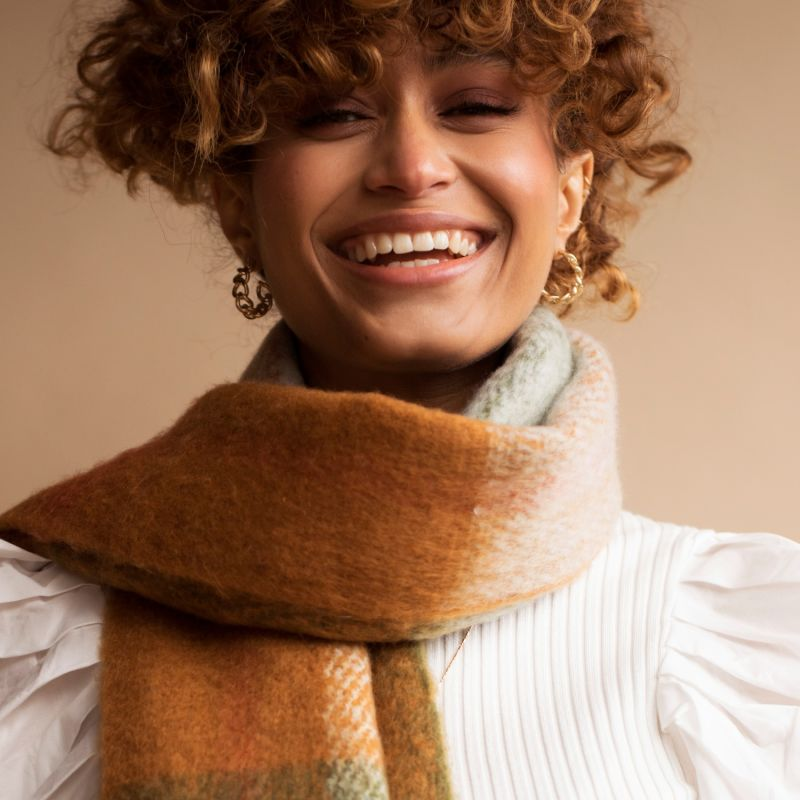 The Stockholm Scarf In Mossy Spring image