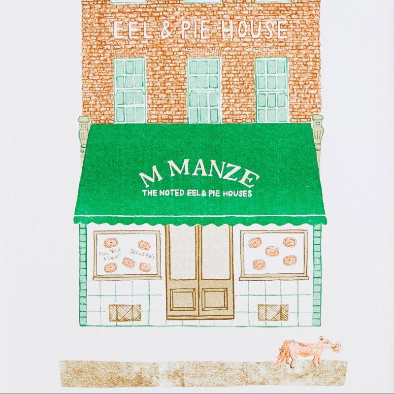 Pie Shop Risograph Print (A4) image