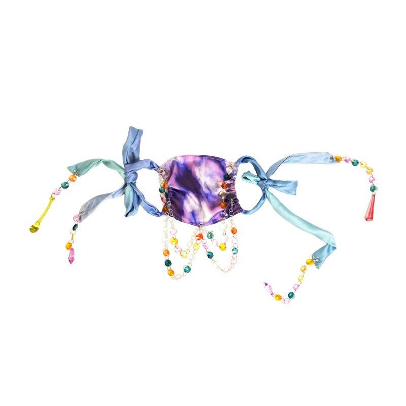 Purple Haze - Beaded Silk Face Covering image