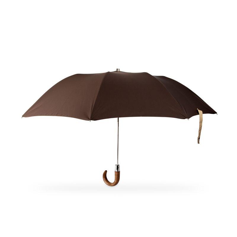 British Folding Umbrella Dark Brown/Sand image