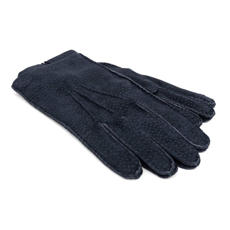 CashmereLined Carpincho Leather Gloves Blue Enzo image