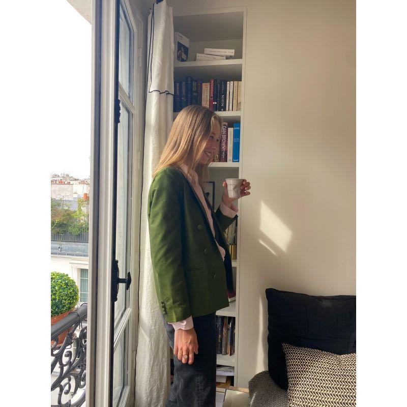 The Pompeii Moss Green Silk Blazer image