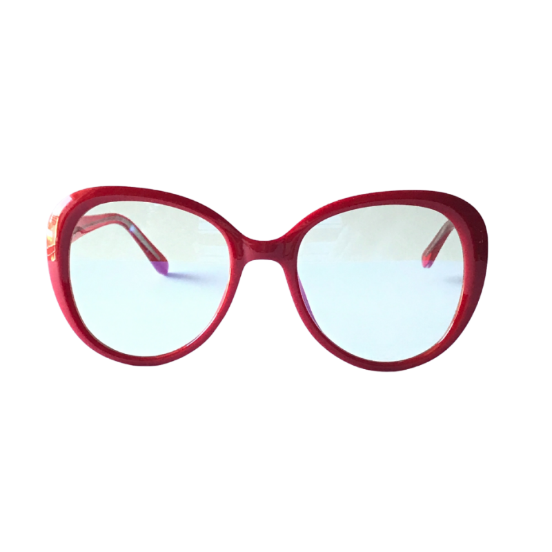 Lacma Oval Blue Light Glasses - Red image