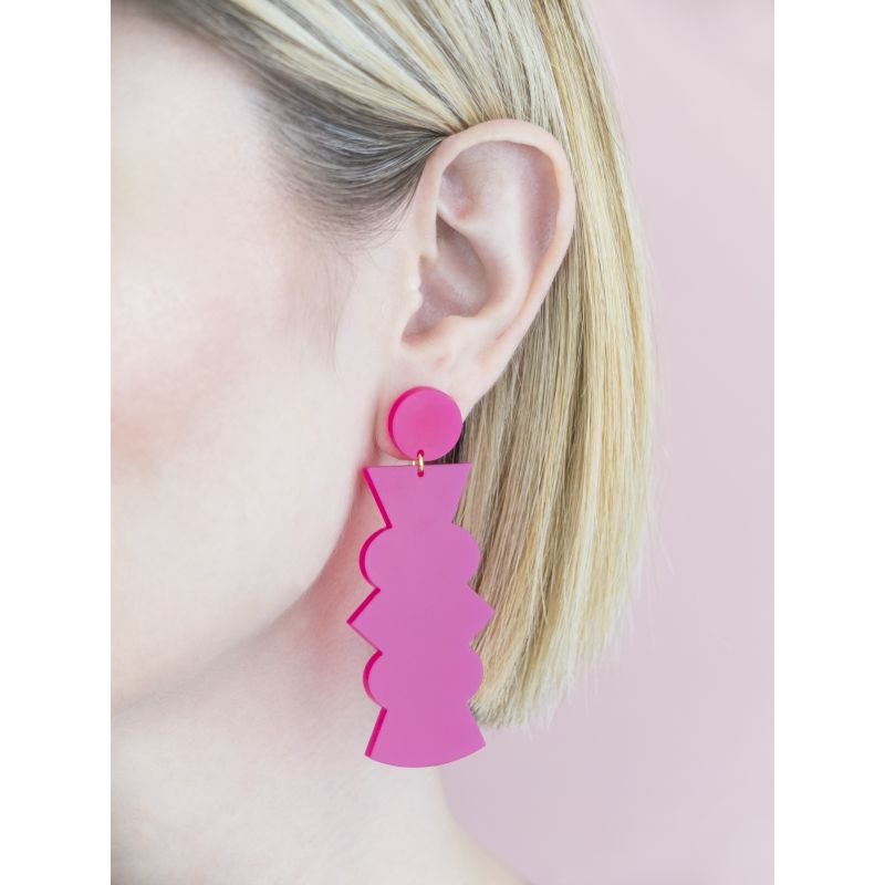Potter - Large Fuchsia Earrings image