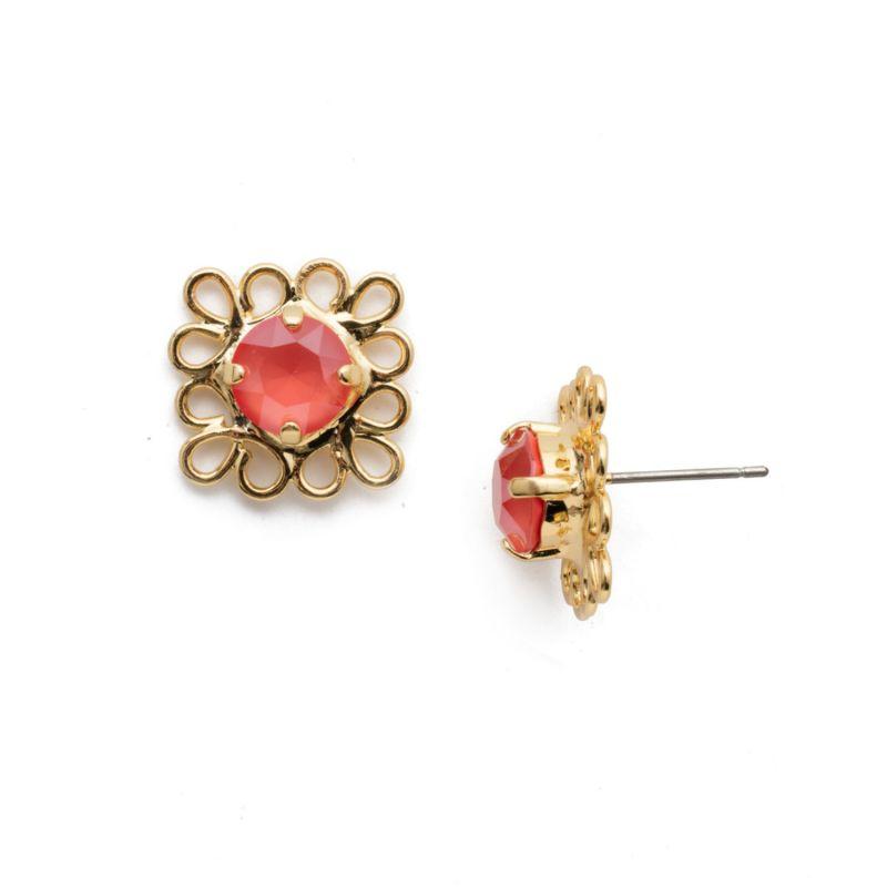 Zahara Stud Earrings - Begonia image