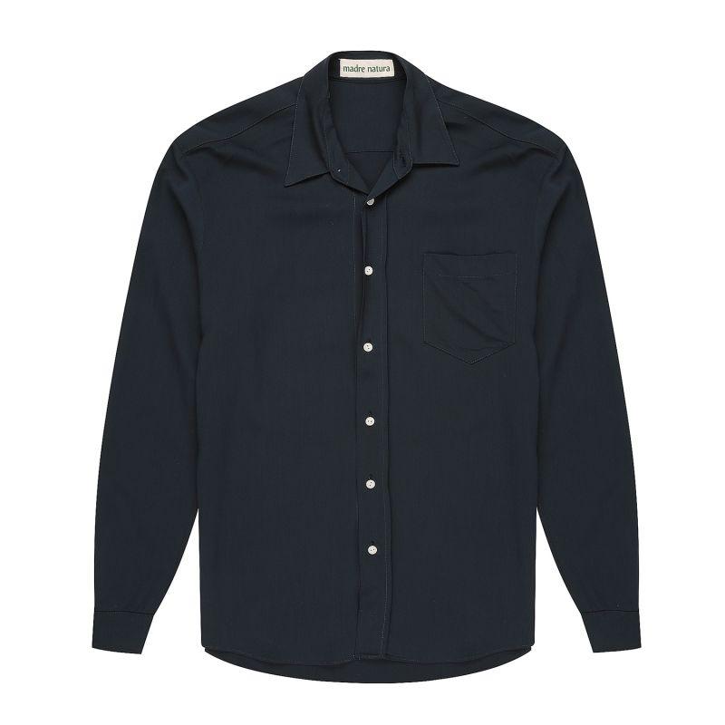 Mens Flannel Viscose Navy Shirt image