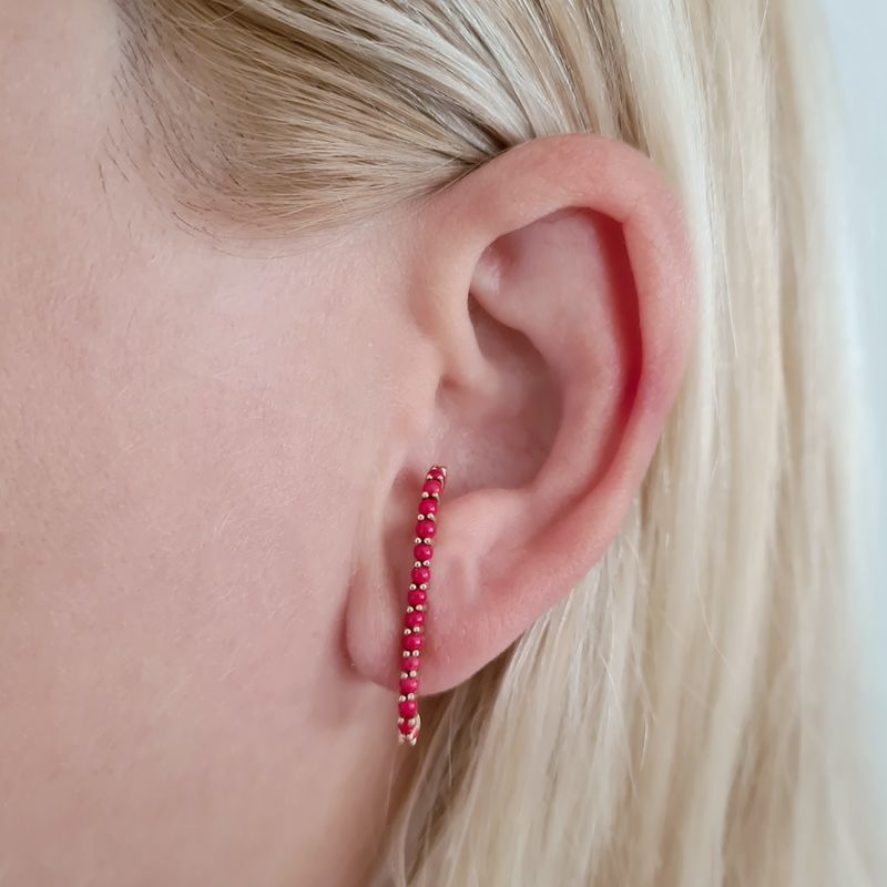 Coral Earcuff Earring - Rose Gold image