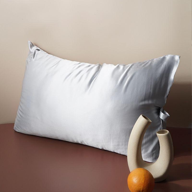 Sleeping Beauty - Classic Pure Silk Queen Size Pillowcase - Grey image