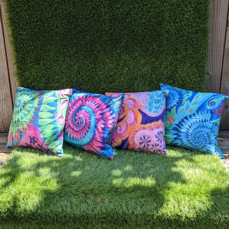 Pink Spiral Cushion image