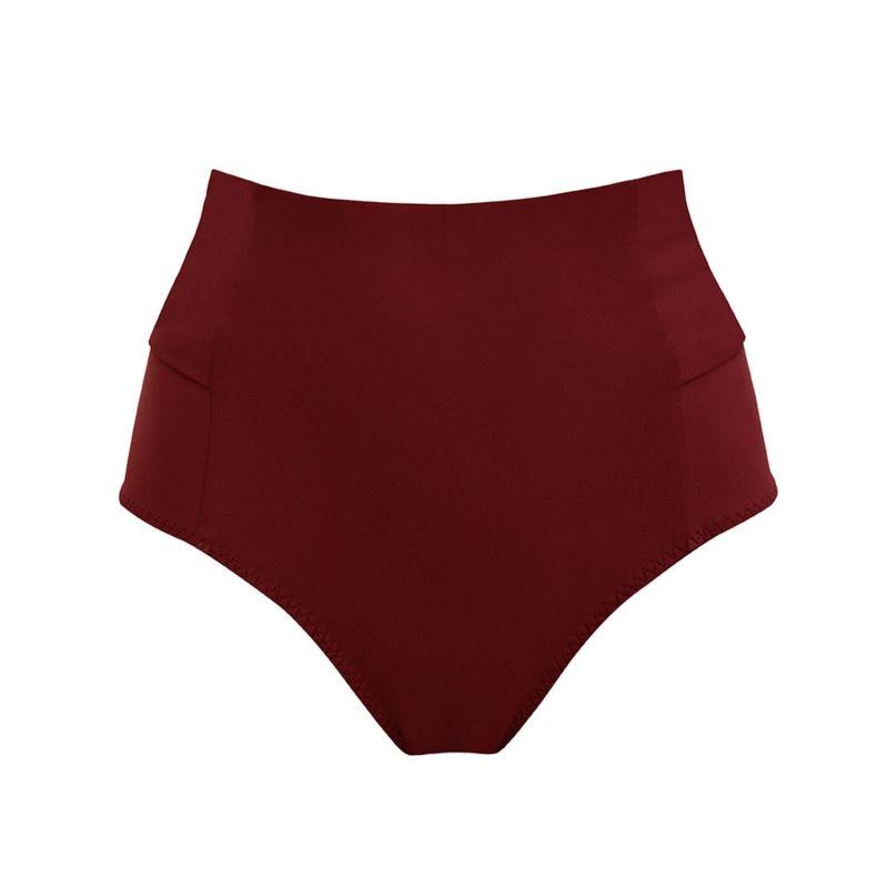 Bow-Back Merlot Bikini Bottom image