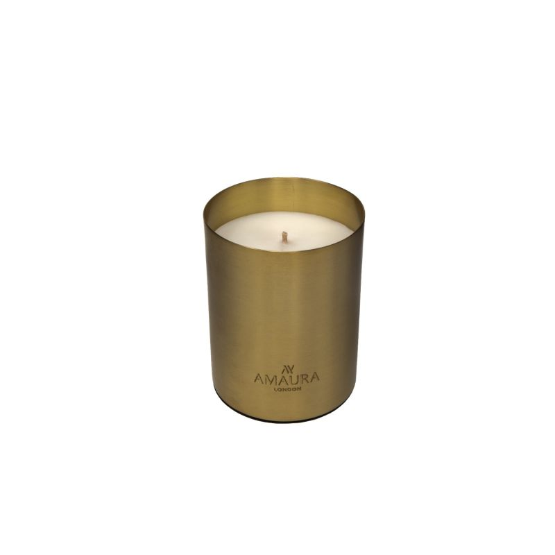 Allure Patchouli, Ylang Ylang & Magnolia Blossom Eco-Luxury Candle In Pure Brass Gold Finish image