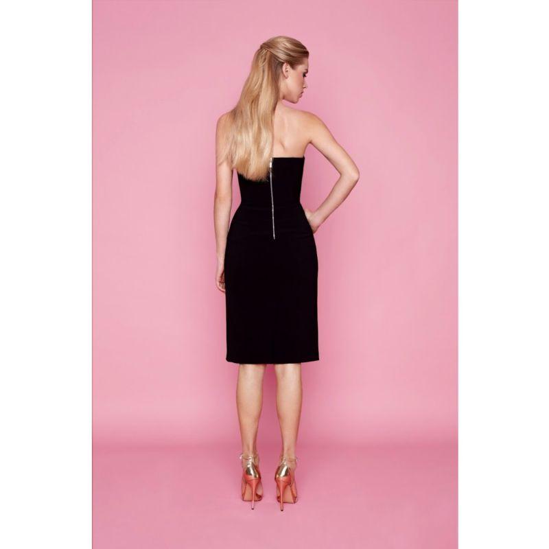 Oramor Black Strapless Corset Midi Dress image