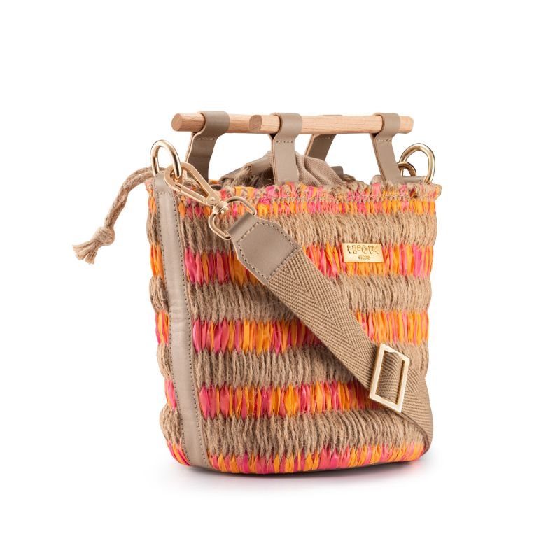 Mini Afro Basket - Pink X Orange image