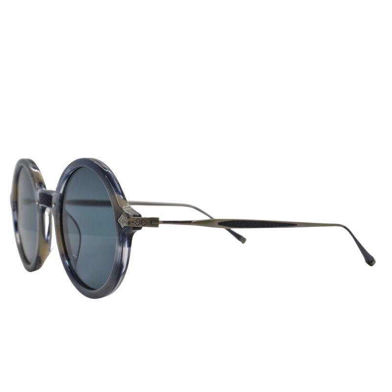 Mulholland Blue Round Sunglasses image