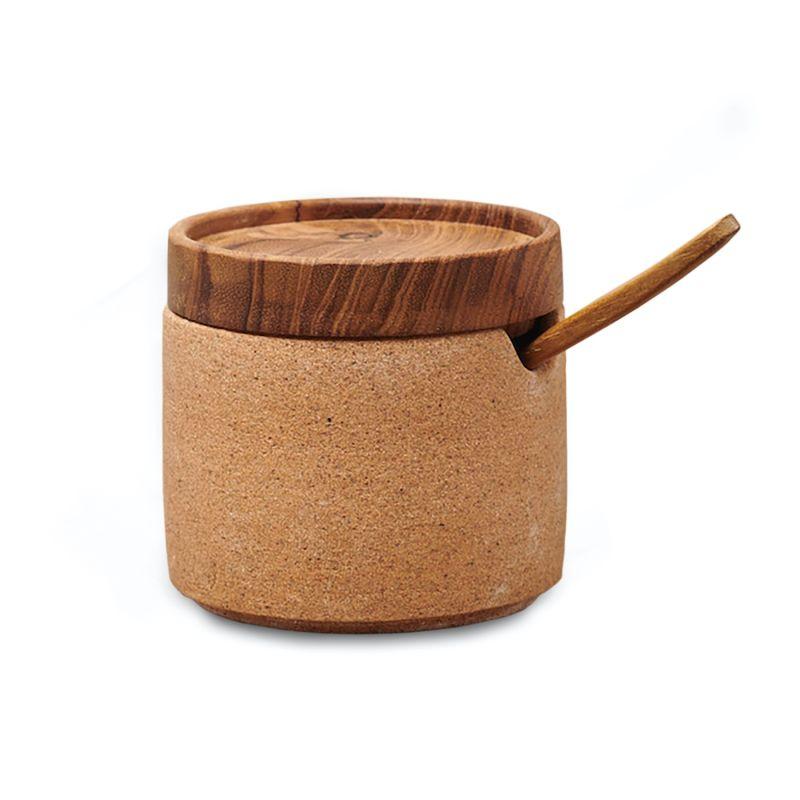 Ayu Ceramic Sugar Bowl - Natural Earth Green image