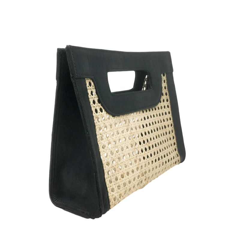 Kate Cane Bag - Black Leather image